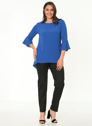 Selen İspanyol Kol Bluz Mavi